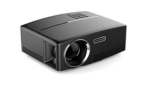 Elecwave GP80 1080P Mini projecteur vidéo LED   Projecteur de maison de 1500 lumens, avec HDMI, VGA, ports audio et d