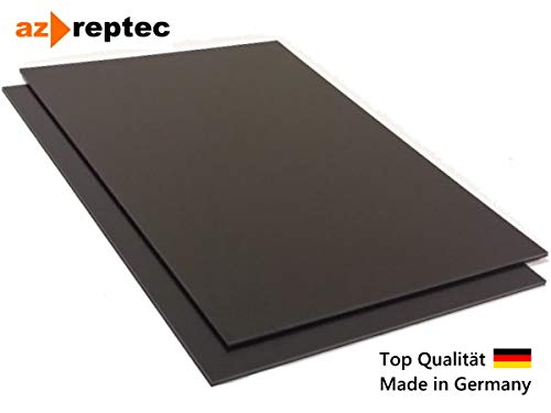 Kunststoffplatte ABS 3mm Schwarz 300x200mm (30x20cm) Acrylnitril-Butadien-Styrol - Made in Germany - Einseitige Schutzfolie - Top Qualität