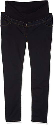 Love2Wait Damen Umstands Jeans, Blau - Blue (Dark Wash), W28/L34 Blue Wash Bootcut Jeans