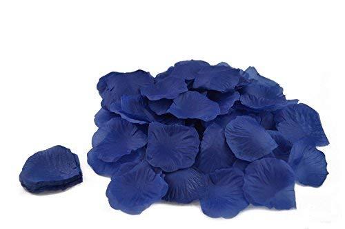 100 petales de roses en FIBRE DE TISSUS COMPACT plusieurs coloris pour deco de table mariage (bleu roi)