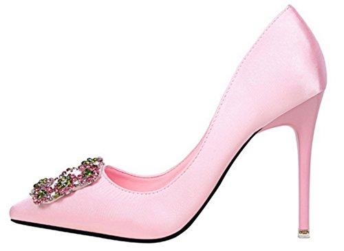 DADAWEN femmes chaussure à talon hauts sexy Rose