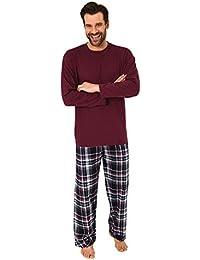 5707a3407f Herren Schlafanzug Pyjama lang mit Flanell Hose - auch in Übergrössen - 281  101 ...