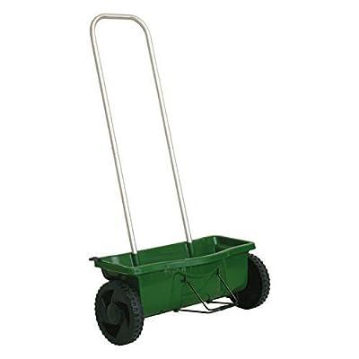 Hochwertiger Streuwagen mit 12 Liter Fassungsvermögen und Aluminium-Gestänge