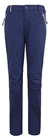 IKRR pantalons de sport pour femme clôturent des pantalons de randonnée rapides Bleu,L/Tour de taille 77cm