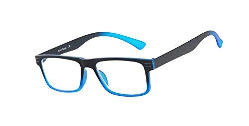Rainbow safety Gli Occhiali Presbiopia per Lettura Uomini Donne Telaio Ultraleggeri RRD +2.50D Nero-Blu