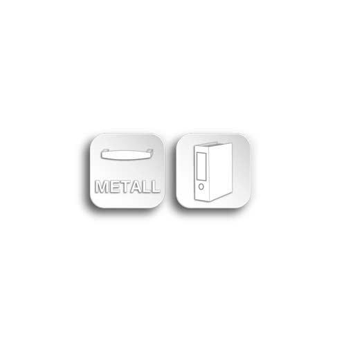 Mehrzweckschrank in weiß, mit 2 Türen, 1 Schubkasten, 5 Einlegeböden, Metallknöpfe im Vintage-Look dezenter Sockelblende, Maße: B/H/T ca. 80/200/39 cm - 5