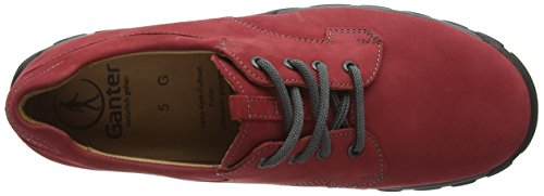 Ganter - GWEN, Weite G, Scarpe stringate Donna Rosso (Rot (rosso 4100))