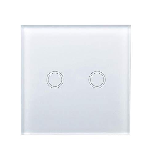 Haobing Interruptores de luz con indicador LED UK/EU Interruptor de Pared de...