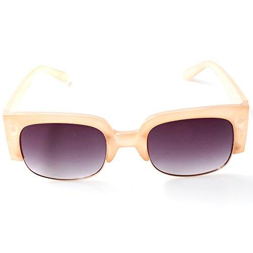 Accessoryo - Nackte Wayfarer-Sonnenbrille mit schwarzen Linsen