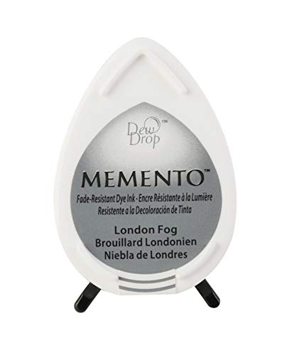 Tsukineko Memento Dew Drop Dye inkpad-London Fog -