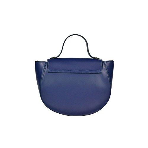 itBags - Borsa a mano Francia in Vera Pelle Made in Italy Bluette