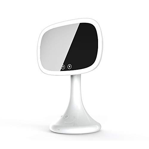 CXQZLH Vanity Mirror, Specchio per Trucco Illuminato a LED con Audio Bluetooth,White