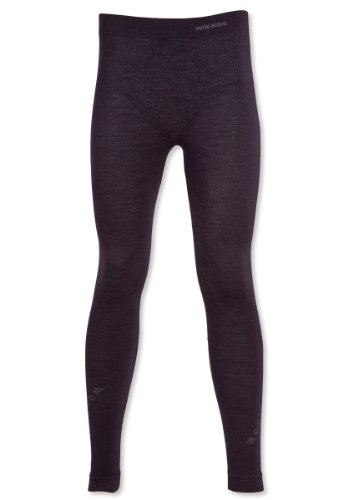 GAT Leggings WOOL Men - Funktionsunterwäsche Merinowolle THERMOACTIVE SEAMLESS TECHNOLOGY - Größe L - Black