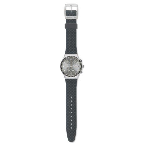 Swatch Classic Comfort Zone YCS4052 - Reloj cronógrafo de cuarzo para hombre, correa de silicona color gris (cronómetro)