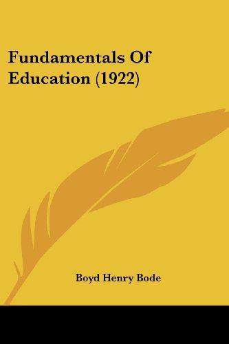 Fundamentals of Education (1922)