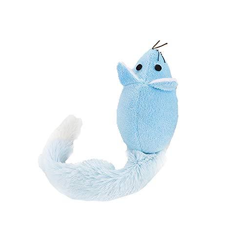 Lomsarsh Tier Spielzeug Haustier Plüsch Kauen Spielzeug Mit Katzenminze Katze Saubere Zähne Trainingsgerät (1x Haustierspielzeug + 1x Katzenminze) -