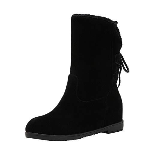 Damen Freizeitschuh Winter rutschfeste dicke Unterseite Warm Stiefel halten Heel Stiefel ❤LANSKIRT