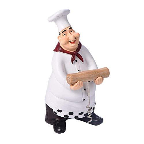Estatua de chef adornos vintage hogar cocina bar restaurante decoración resina manualidades...