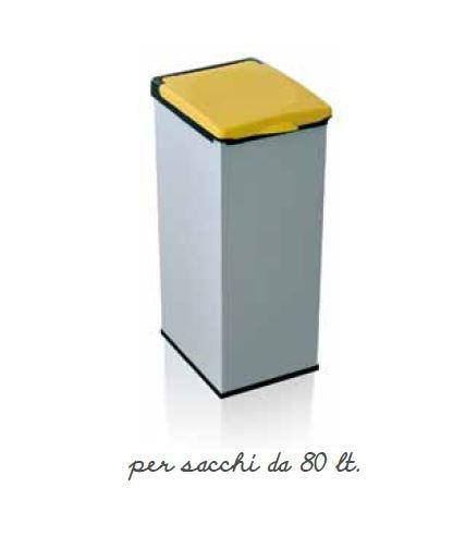 Mülleimer für Mülltrennung mit Deckel gelb-Sack Mülltrennung