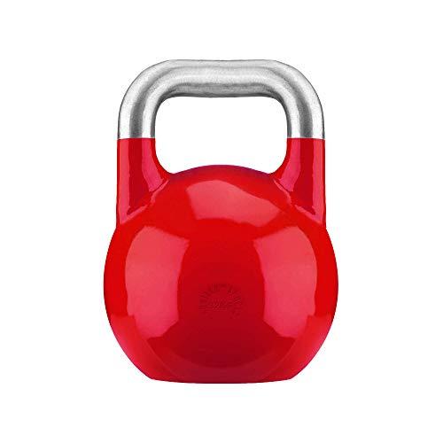 GORILLA SPORTS® Kettlebell Competition 32 kg Stahl Rot - Wettkampf Kugelhantel
