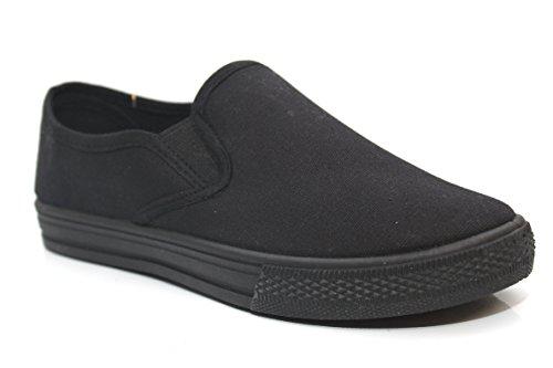 Kinder Slipper Schwarz Herren Damen Sommer Schule Turnschuhen Size EU Skate Schuhe Schwarz