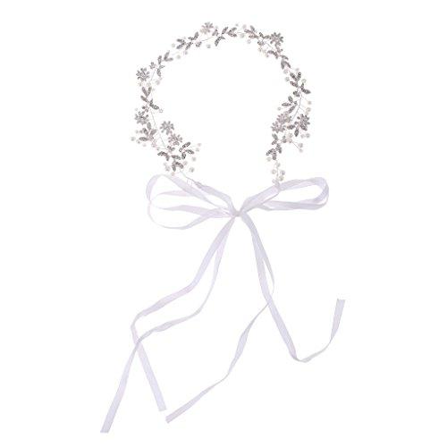 Vintage Haarreif Stirnband Haarband Kopfband Haarkette mit Blumen Stil als