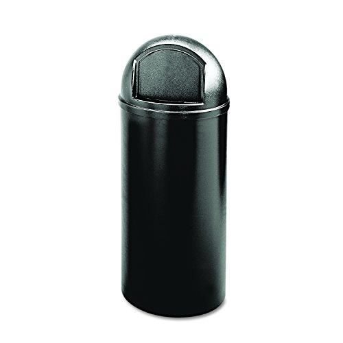 Rubbermaid Marshal Classic - Cubo de basura redondo, capacidad de 95 l, negro