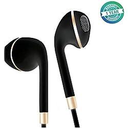Ecouteurs Samsung, Intra-Auriculaire Ecouteur Filaires Oreillettes Casque avec Microphone Jack 3,5mm Compatible pour Smartphones Android, MP3-Nior