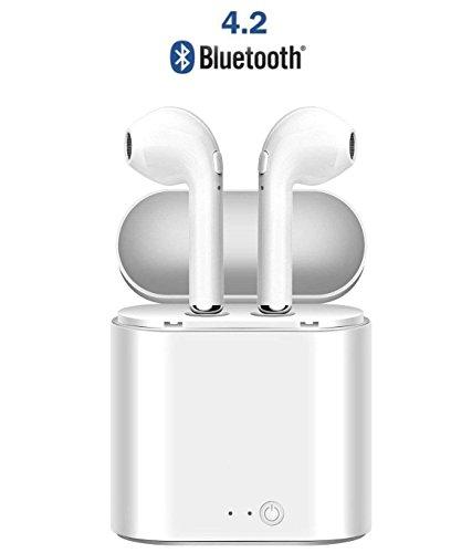 Auricolari Bluetooth,Vozone Cuffie Bluetooth Wireless con Scatola di Ricarica Portatile e Microfono Incorporato adatto per Musica, Jogging, Bicicletta, Viaggi ecc, Compatibilità per iphone x 8 7 6s 6 Plus ipad Samsung S8 S8+ S7 S6 android ios Smartphone ECC