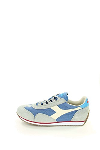Diadora Equipe Stone Wash 12, Chaussures Basses Mixte Adulte, Blu + Bianco Gris / aviation