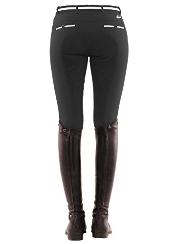 SPOOKS Reithose für Damen Mädchen Kinder, Voll-Besatz Reithosen Leggings Turnierreithose - bequem & stylisch Ricarda Full - Black M