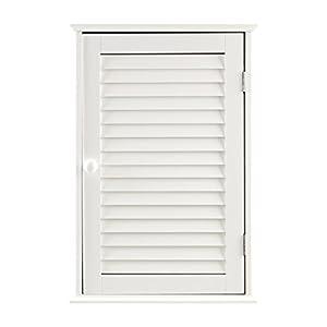 Premier Housewares – Armario de baño para la Pared con 1 Puerta (57 x 39 x 17 cm), Color Blanco
