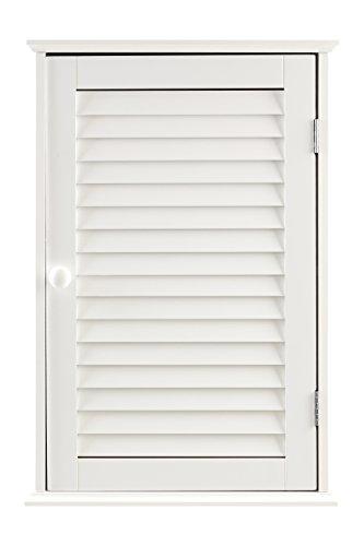 Premier housewares pensile per bagno con anta singola 57 x 39 x 17 cm, colore: bianco
