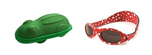 Babybanz 0 bis 2 Monate Sonnenbrille, Roter Punkt und ein Yoccoes Sonnenbrille Fall - Grüner Frosch