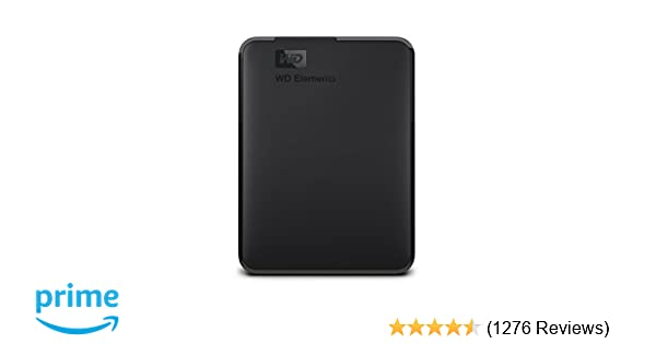 Western Digital Elements 1 5 TB Portable External Hard Drive (Black)