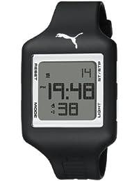 Puma PU910791010 - Reloj digital unisex, correa de plástico, color negro