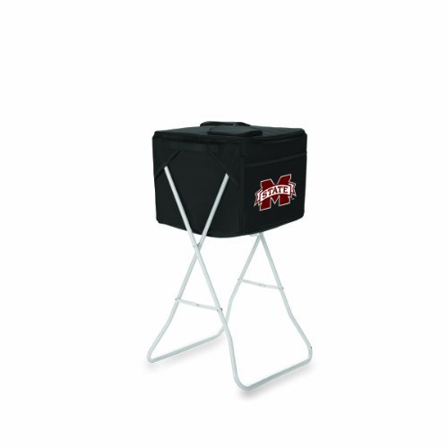 ncaa-mississippi-state-bulldogs-black-party-cube-portable-cooler-with-stand-by-picnic-time