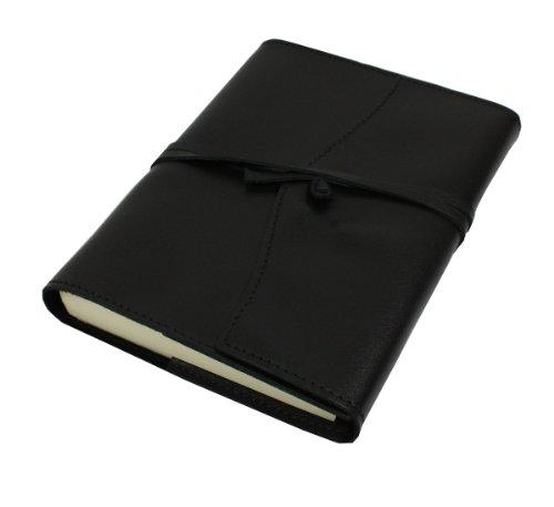 Papuro Milano Nachfülleinlage für Italienisches Leder schwarz Adressbuch-12x 17cm