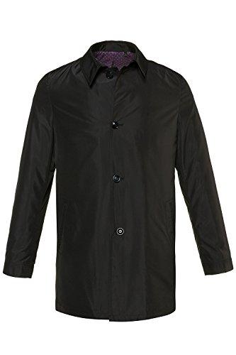 JP 1880 Herren große Größen   Business-Mantel   Leicht, wettertauglich und knitterfrei   Hemdkragen   Knopfleiste   bis Größe 7XL   schwarz XL 714291 10-XL