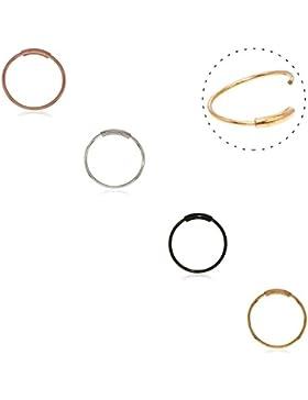 Septum Ring, 316L chirurgischer Stahl nahtlose kontinuierliche Hoop Ringe Nase Tragus Lip Ohr Piercing 4 Farben...