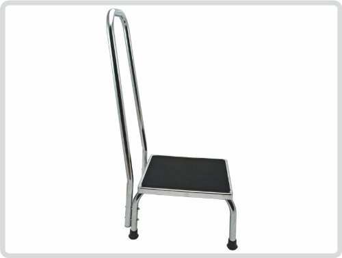 Trittstufe aus Metall mit gebogener Haltegriff - Fußtritt Trittstufe Tritthocker