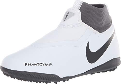 Nike Jr Phantom Vsn Academy DF TF, Zapatillas de fútbol Sala Unisex niño, Multicolor Pure Platinum/Black/Lt...