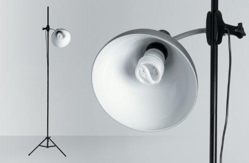 Daylight Company D31375 E27 (Edison Screw) 32 Watt Compact Fluorescent Light (CFL) Artist Studio Lamp with Stand, Chrome