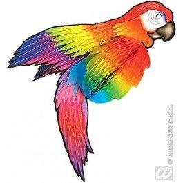 Widmann s.r.l. Wabendeko Papagei Party-Deko bunt 76cm -