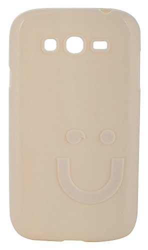 iCandy™ Imported Quality Soft TPU Smiley Back Cover For Samsung Galaxy Grand S9082 / Grand Neo S9060 / Grand Neo Plus S9060i - White  available at amazon for Rs.160
