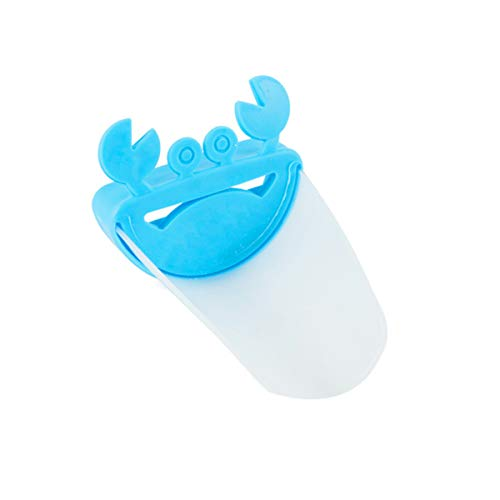 Waschen Net (1 stück Badezimmer Nette Krabbenform Wasserhahn Extender Kid Waschen Hände Tap Erweiterung Waschbecken Waschraum Liefert (Color : Blue Crab+Transparent))