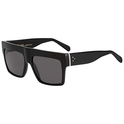 fbbaa85a6d10f Celine 41756 807 Black ZZ Top Square Sunglasses Polarised Lens Category 3  Size