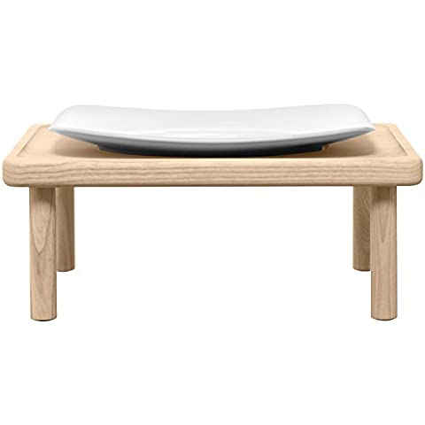 LSA International 25 5 cm plato para servir Stilt protectora con función atril, madera de fresno