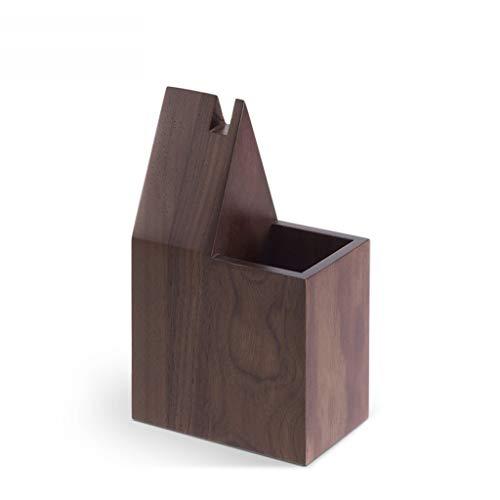Llsdls Holz Stifthalter Retro Ornamente Chinesischen Stil Kreative Persönlichkeit Multi-Funktion Desktop Brillengestell