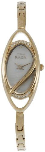 Titan Raga Analog White Dial Women's Watch - NE9935YM01A image